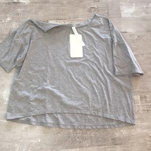 Gray lululemon oversized T-shirt size 12 NWT